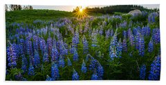 Lupine Meadow Hand Towel by Dustin  LeFevre