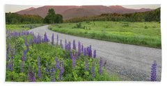 Lupine Sunset Road Hand Towel