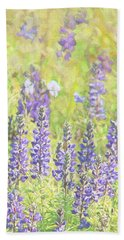 Hand Towel featuring the photograph Lupine Wildflowers Montana by Jennie Marie Schell