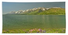 Lupines In The Tetons Bath Towel