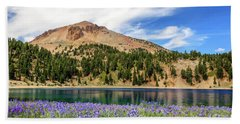 Lupines Lake And Lassen Bath Towel