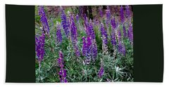 Bath Towel featuring the painting Lupines Stand Proud by Jennifer Lake