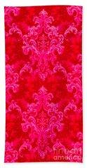 Luscious Neo Baroque Hot Pink Bubblegum Damask Hand Towel