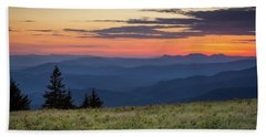 Lush Blue Ridge Mountain Sun Rise Bath Towel by Serge Skiba