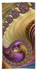 Luxe Colorful Fractal Spiral Hand Towel by Matthias Hauser