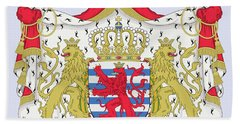 Hand Towel featuring the drawing Luxembourg Coat Of Arms by Movie Poster Prints