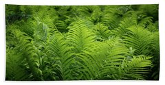 Luxuriant Ferns In More Than Fifty Shades Of Green Bath Towel
