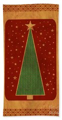 Luxurious Christmas Card Bath Towel by Aimelle