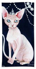 Luxurious Sphynx Bath Towel by Akiko Okabe