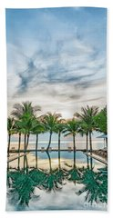 Bath Towel featuring the photograph Luxury Pool In Paradise by Antony McAulay