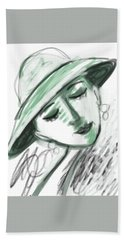 Hand Towel featuring the digital art Lydia by Elaine Lanoue