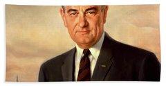 Lyndon Baines Johnson Bath Towel