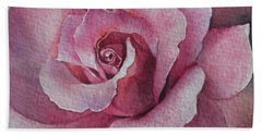Hand Towel featuring the painting Lyndys Rose by Sandra Phryce-Jones