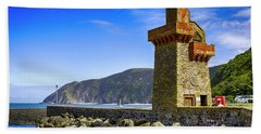 Lynmouth Harbor Entrance, Uk Hand Towel