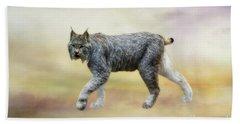 Lynx Bath Towel by Suzanne Handel