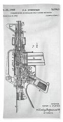 Bath Towel featuring the digital art M-16 Rifle Patent by Taylan Apukovska