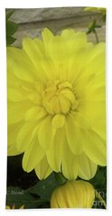 M Shades Of Yellow Flowers Collection No. Y90 Bath Towel