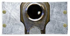 M1911 45 Framed With 45 Case Heads Bath Towel by M L C