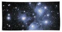 Hand Towel featuring the photograph M45--the Pleiades by Alan Vance Ley