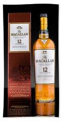 Macallan Single Malt Whisky Hand Towel by Mihai Andritoiu
