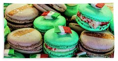 Bath Towel featuring the photograph Macaroons by Shirley Mangini