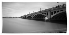 Macarthur Bridge To Belle Isle Detroit Michigan Hand Towel