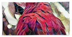 Bath Towel featuring the digital art Macaw by David Mckinney