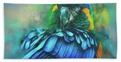 Bath Towel featuring the photograph Macaw Magic by Brian Tarr