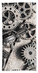 Machines Of Military Precision  Bath Towel by Jorgo Photography - Wall Art Gallery