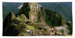 Machu Picchu At Sunrise Bath Towel