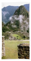 Machu Picchu In The Morning Light Hand Towel
