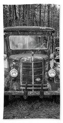 Mack Truck In A Junkyard Hand Towel