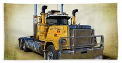 Mack Truck Bath Towel by Keith Hawley