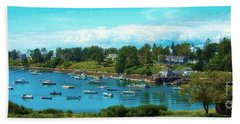 Mackerel Cove On Bailey Island Hand Towel