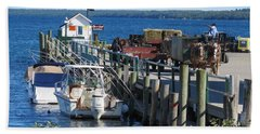 Mackinac Island Coal Dock Bath Towel