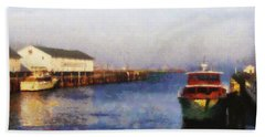 Mackinac Island Michigan Ferry Dock Bath Towel