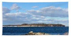 Mackworth Island Falmouth Maine Hand Towel