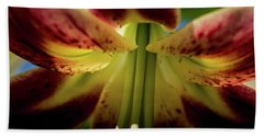 Bath Towel featuring the photograph Macro Flower by Jay Stockhaus