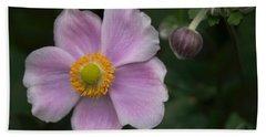 Macro Lavender Blossom Bath Towel