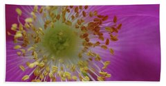Macro Rosehip Bloom Hand Towel