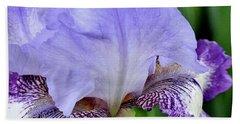 Macro Wavy Iris Petals Hand Towel
