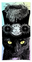Mad Hatter Cat Hand Towel