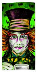 Mad Hatter Hand Towel by Alessandro Della Pietra