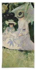 Madame Helleu And Her Daughter At The Chateau Of Boudran Hand Towel