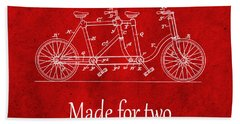Made For Two - Red Bath Towel