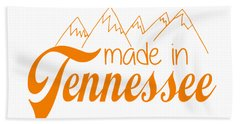 Hand Towel featuring the digital art Made In Tennessee Orange by Heather Applegate