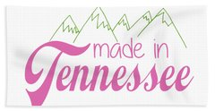 Hand Towel featuring the digital art Made In Tennessee Pink by Heather Applegate