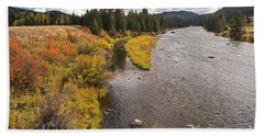 Madison River Hand Towel by Cindy Murphy - NightVisions