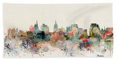 Madison Wisconsin Skyline Hand Towel