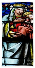 Madonna And Child Bath Towel by John S